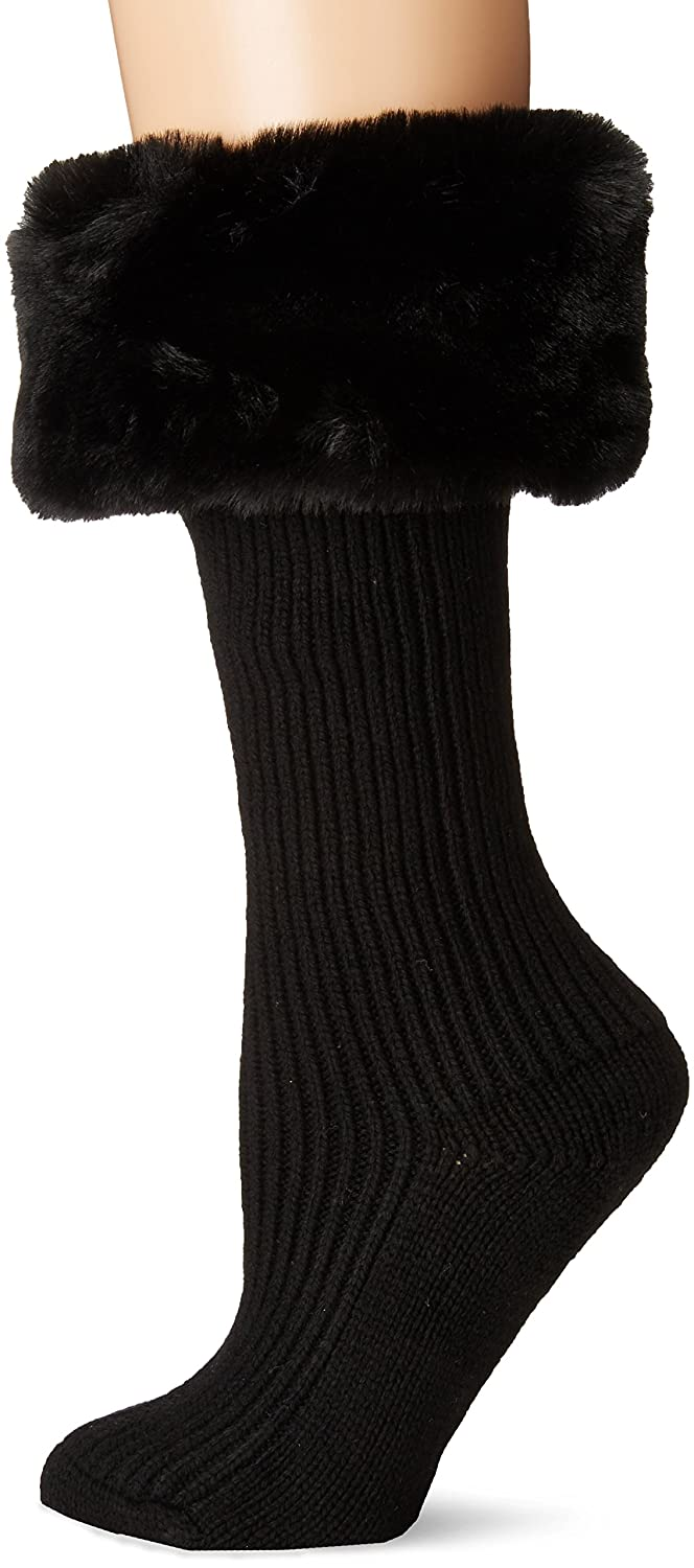 df9b5f1f400 UGG Women's Faux Fur Cuff Tall Rainboot Sock