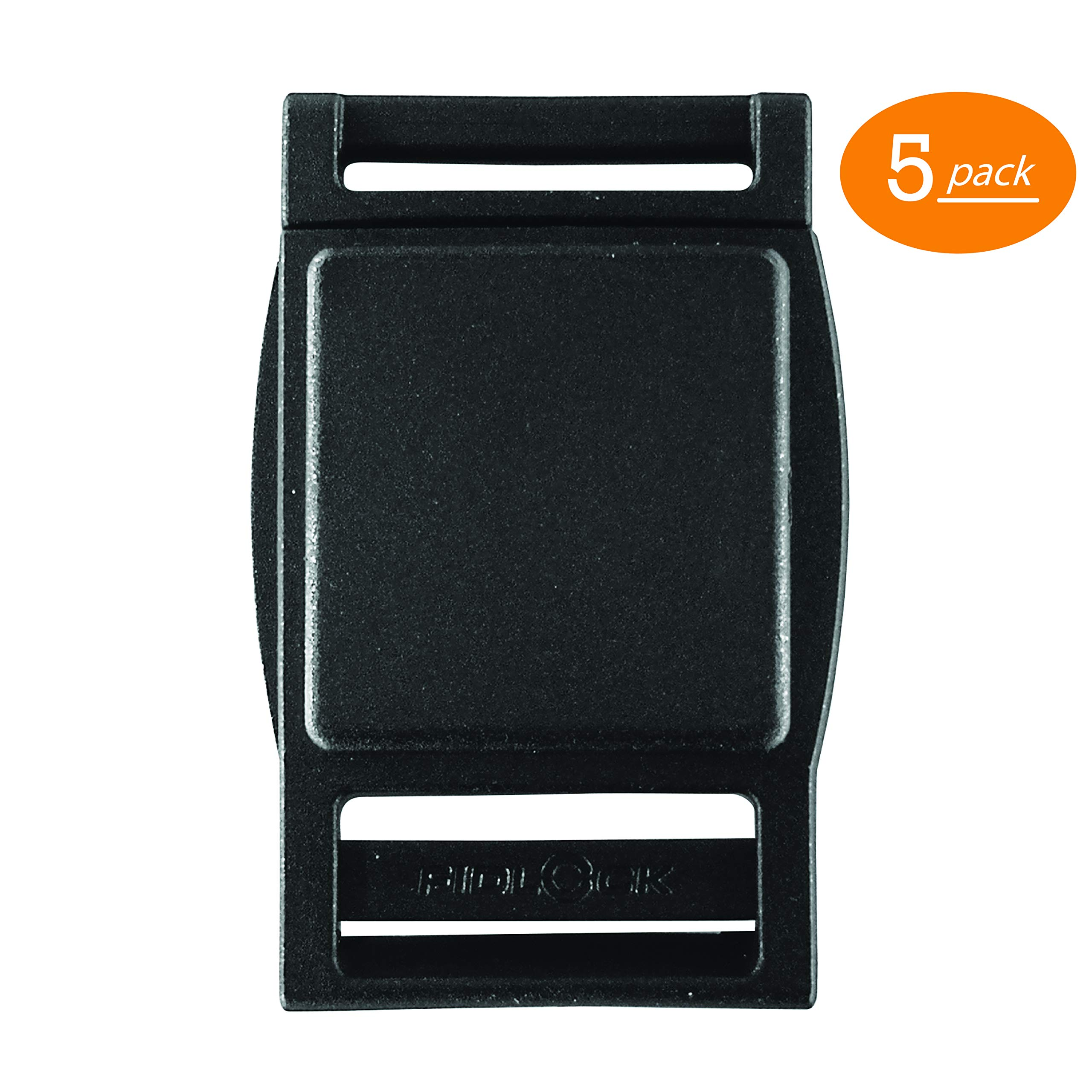 Fidlock Magnetic Buckle Quick Release Replacement Buckle - Black (25mm) (Pack of 5) by Fidlock