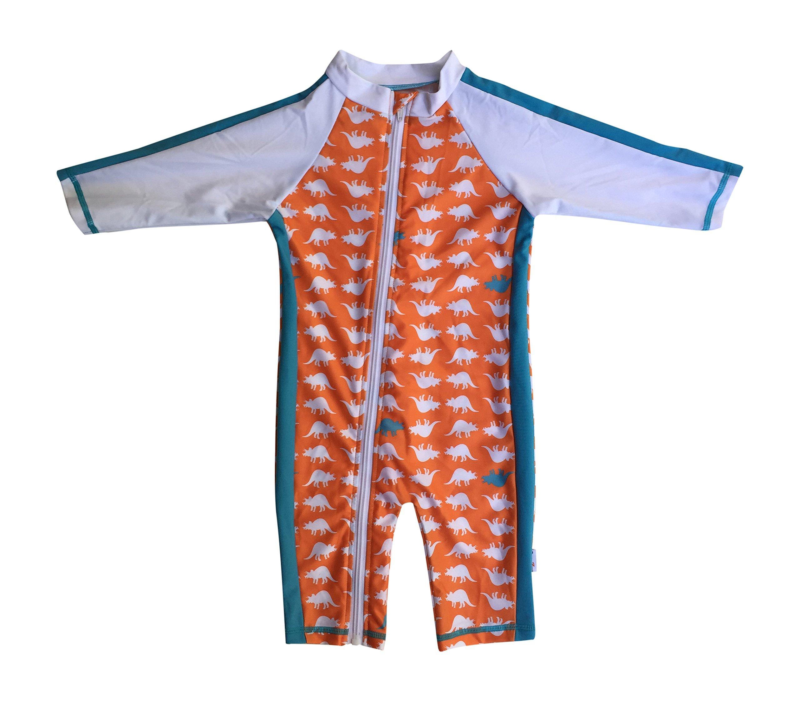 SwimZip¨ Little Boy Long Sleeve Sunsuit with UPF