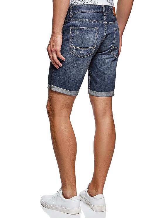 oodji Ultra Hombre Pantalones Cortos Vaqueros Básicos: Amazon.es: Ropa y accesorios
