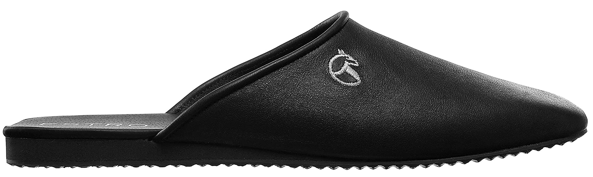 Mens Bedroom Slippers Leather Amazoncom Estro President Mens Luxury Leather House Slippers 8
