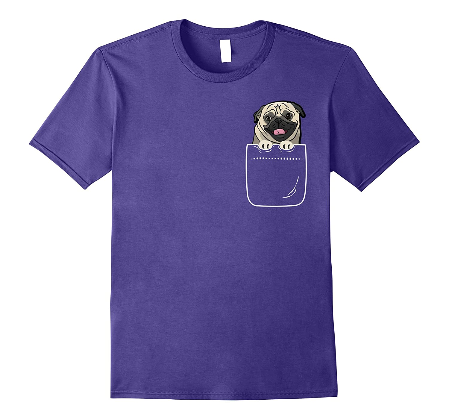 Cute Pug In Your Front Pocket T-Shirt Beautiful Puppy-FL