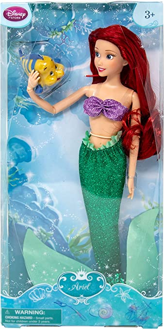 Amazon Com Disney Store Ariel Classic Doll With Flounder 12 By Disney Toys Games
