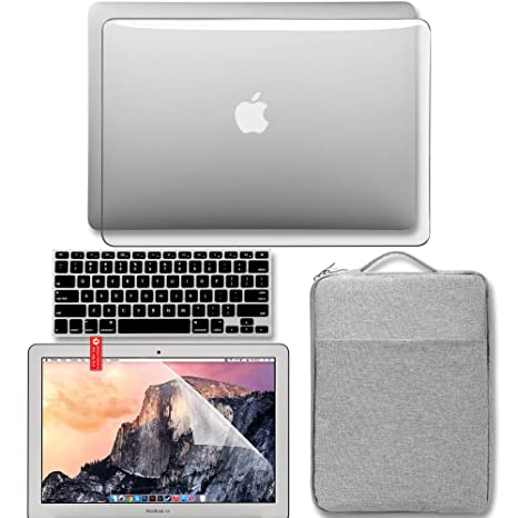 check out 5aaf2 c729b GMYLE MacBook Air 13 Inch Case 2018 Release New Version A1932 with Retina  Display Touch ID, Plastic Hard Case Shell, Protective Carrying Sleeve, ...