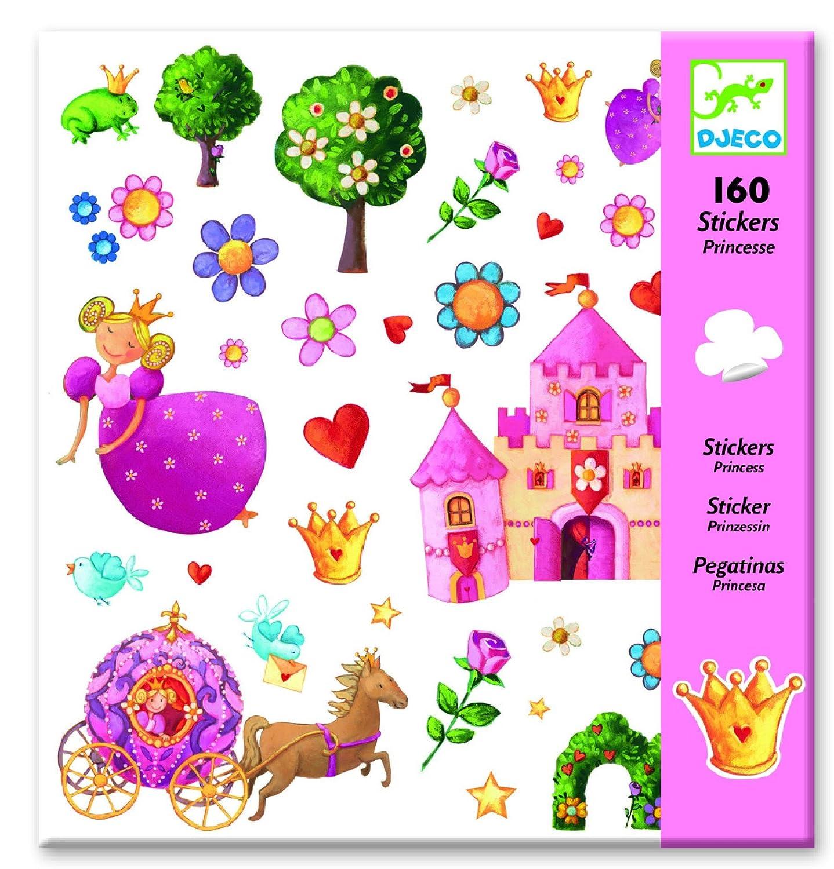 10115 Hotaling Inc Djeco Princess Marguerite Stickers 160 pc