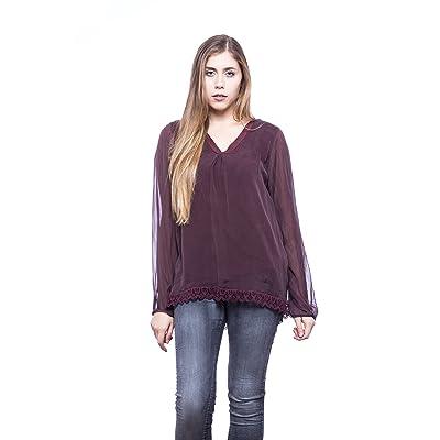 a503312b617 Abbino Lucilla Blusas Tops para Mujeres - Hecho en ITALIA - 5 Colores -  Entretiempo Primavera