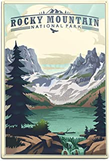 product image for Lantern Press Rocky Mountain National Park, Colorado - Lake - Lithograph 89047 (6x9 Aluminum Wall Sign, Wall Decor Ready to Hang)