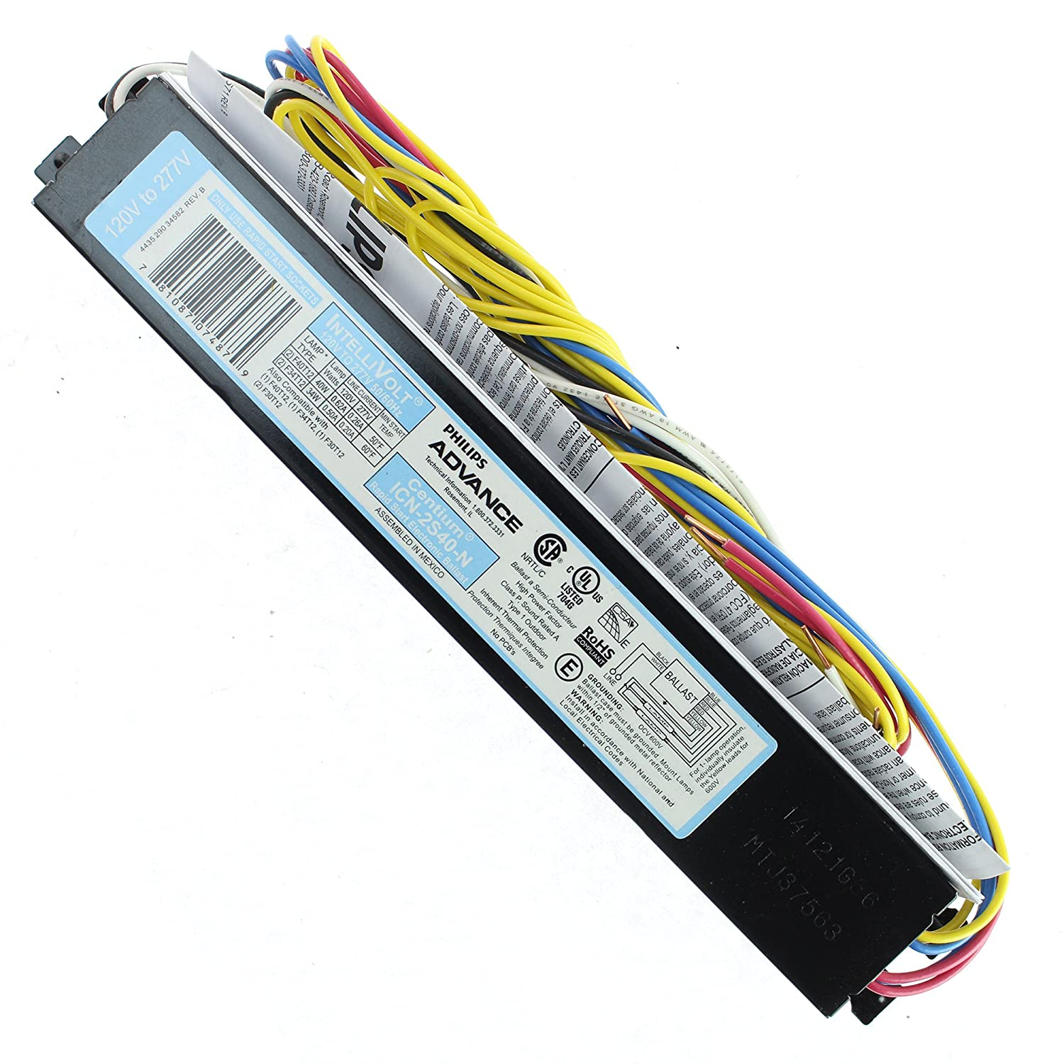 8185Jdr2HJL._SL1500_ advance icn 2s40 n centium fluorescent ballast for 2x40w t12 philips advance centium icn-2s40-n wiring diagram at cos-gaming.co