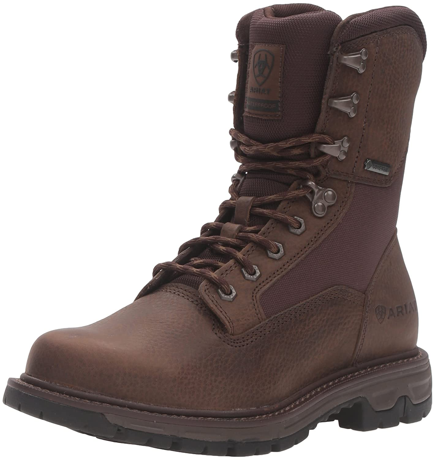- Ariat Men's Conquest Round Toe 8  GTX Hunting Boot, Pebbled Brown, 11 2E US