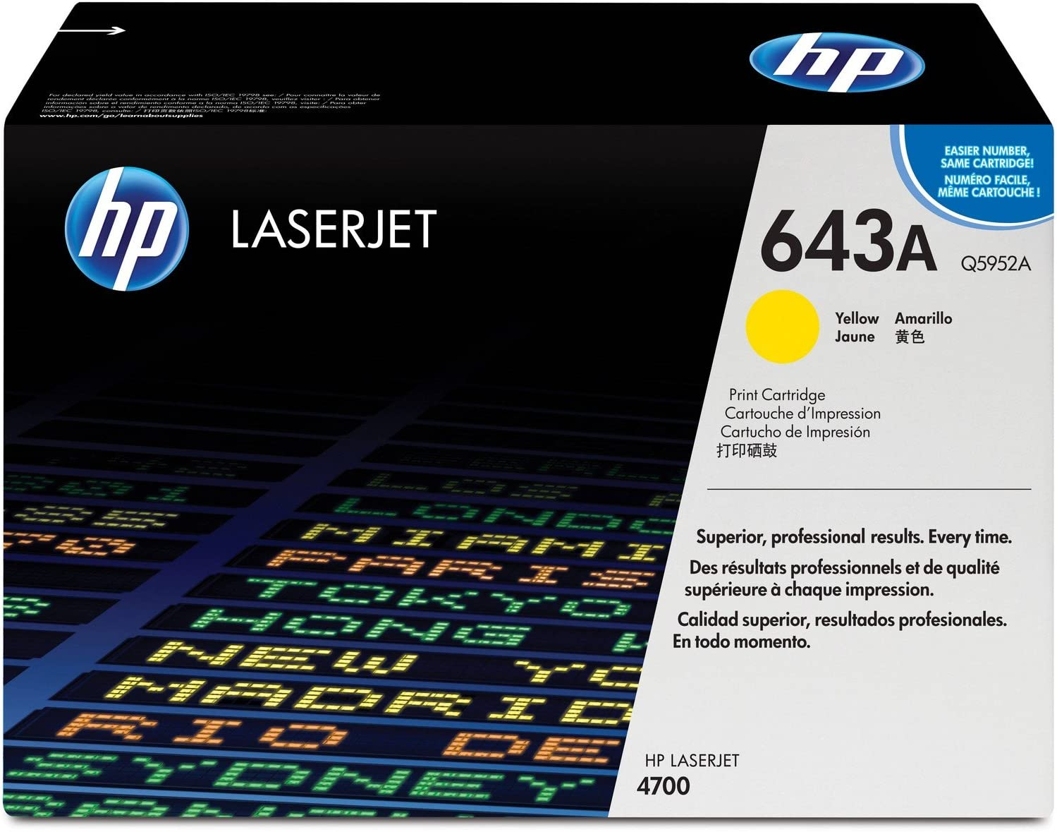 HP 643A | Q5952A | Toner Cartridge | Yellow