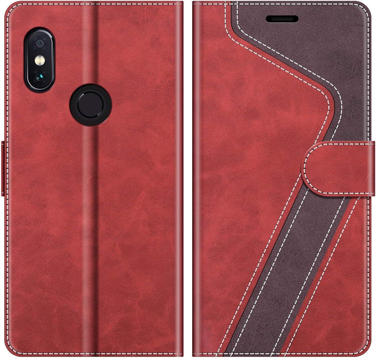 MOBESV Funda para Xiaomi Redmi Note 5, Funda Libro Xiaomi Redmi Note 5, Funda Móvil Xiaomi Redmi Note 5 Magnético Carcasa para Xiaomi Redmi Note 5 Funda con Tapa, Elegante Rojo: Amazon.es: Electrónica