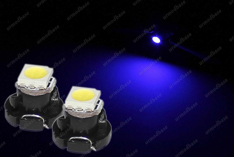 2 x t4.2 Neo cuneo 1 –  1210 LED SMD cruscotto contachilometri strumento blu lampadina 12 V urmodbase