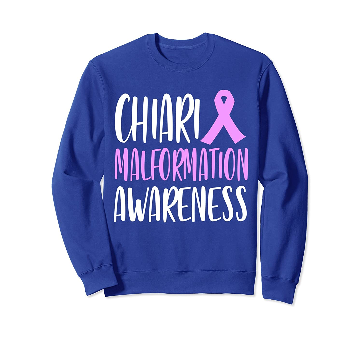 Chiari malformation awareness purple ribbon sweatshirt-alottee gift