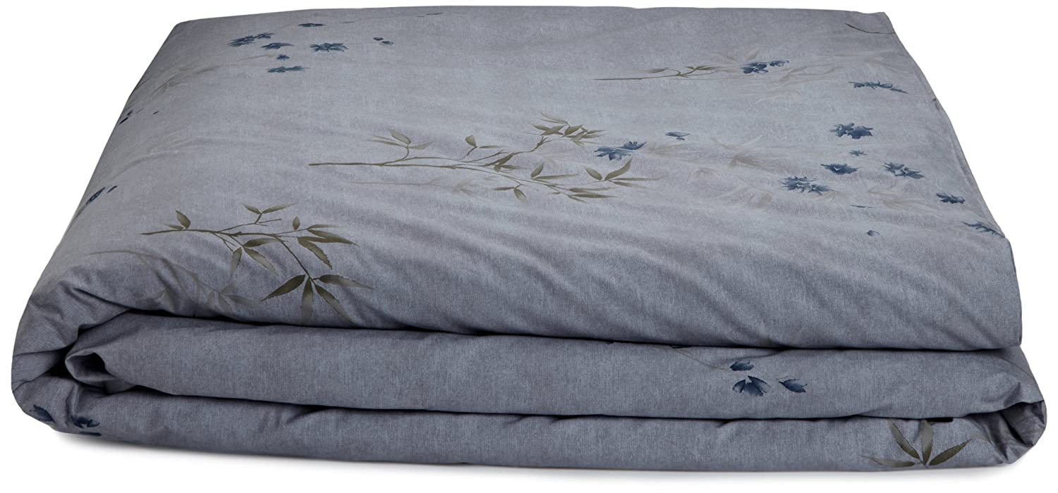 Amazoncom Calvin Klein Home Bamboo Flower Cotton Floral Print - Brown pattern bedding double duvet set calvin klein bamboo bedding