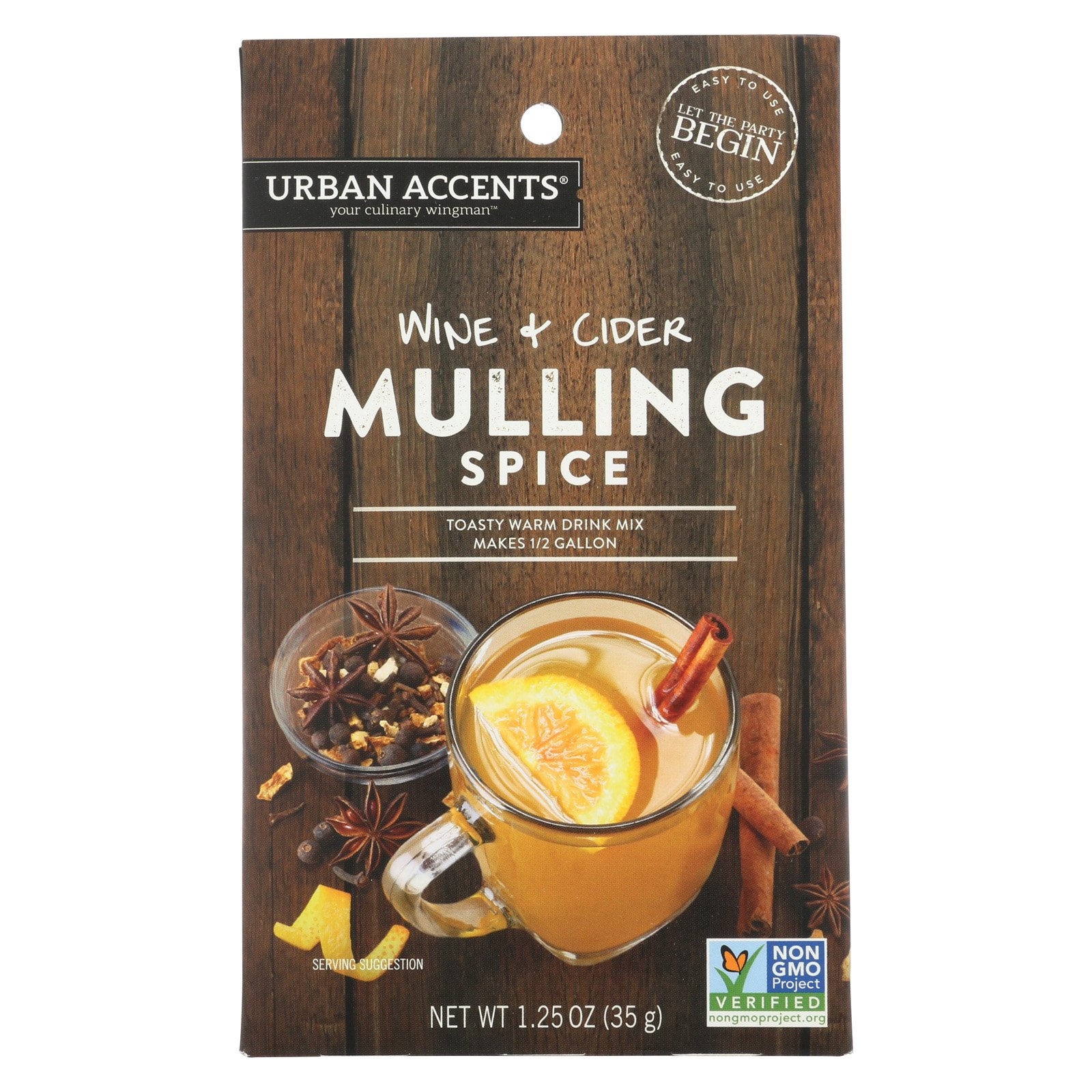 Urban Accents Wine and Cider - Mulling Spice - Case of 6 - 1.25 oz.