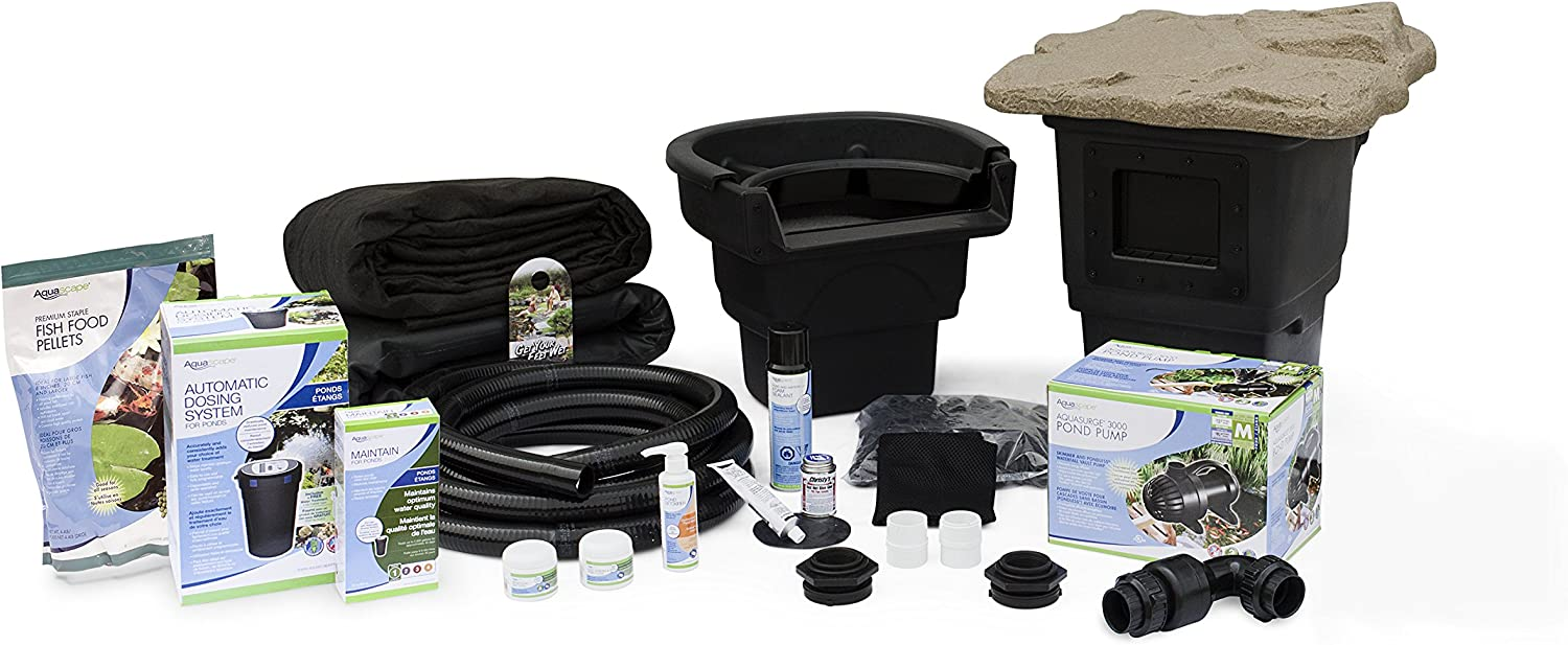 Amazon Com Aquascape Complete Pond Kit 8 Feet X 11 Feet Aquasurge 3000 Pump Garden Outdoor