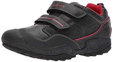 Geox New Savage Boy B ABX B, Chaussures avec Fermeture Velcro, Bleu (Navy/GREYC0661), 35 EU