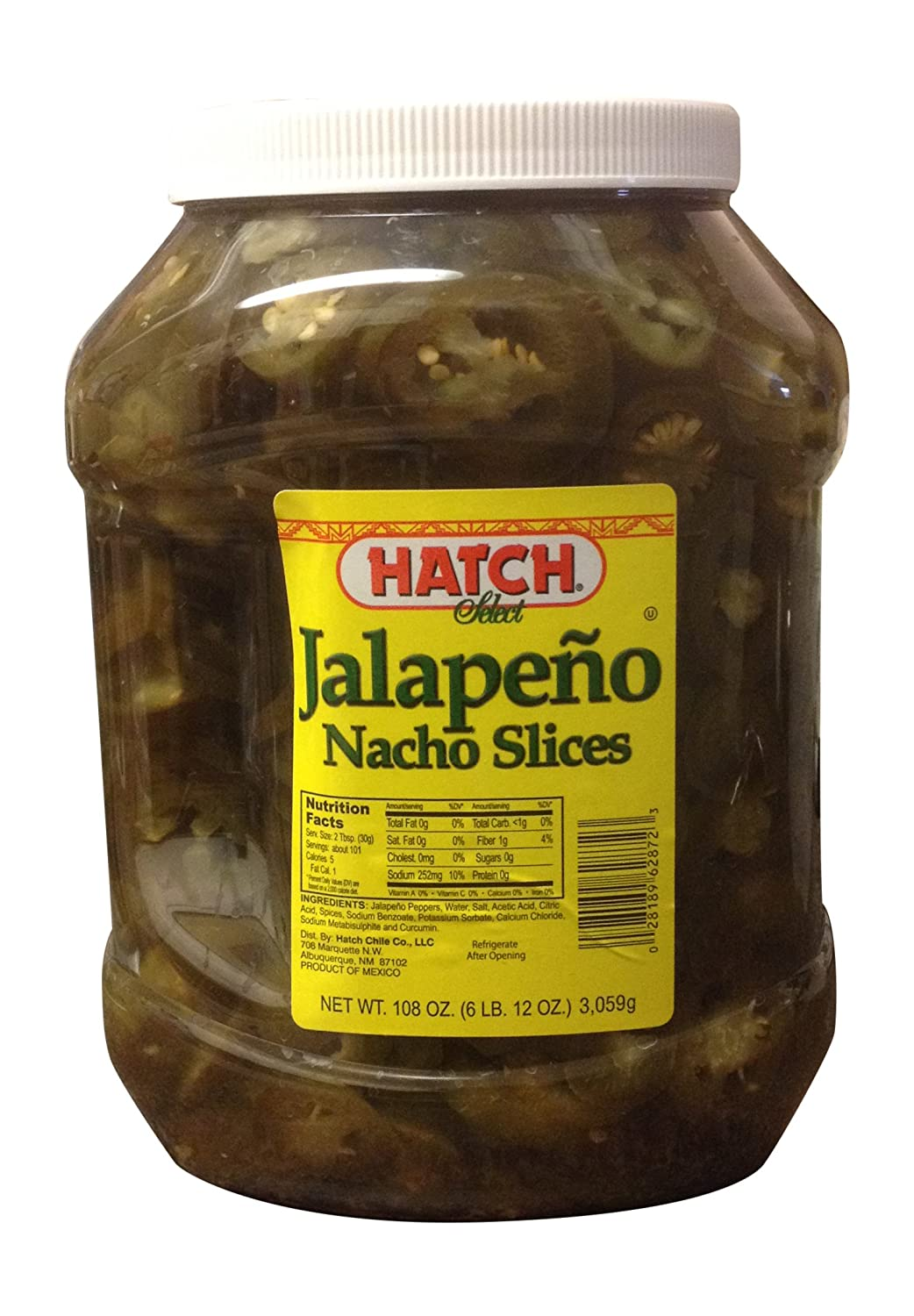 Hatch Select Jalapeno Nacho Slices 108 OZ (6 LB. 12 OZ.)