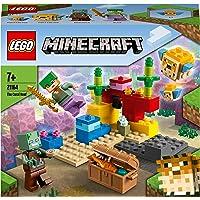 LEGO 21164 Minecraft De Koraalrif Set met Alex en Verdronken Zombie Poppetjes voor Kinderen van 8 Jaar en Ouder