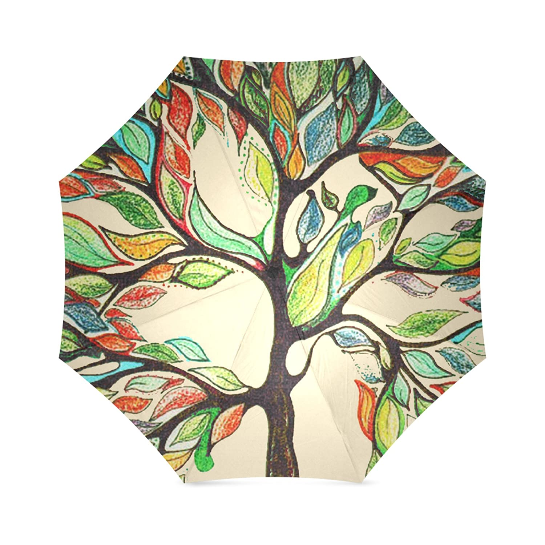 artsbaba Tree of Life Umbrellaコンパクト折りたたみ式傘雨太陽傘UV保護傘旅行傘   B072QSGHJH