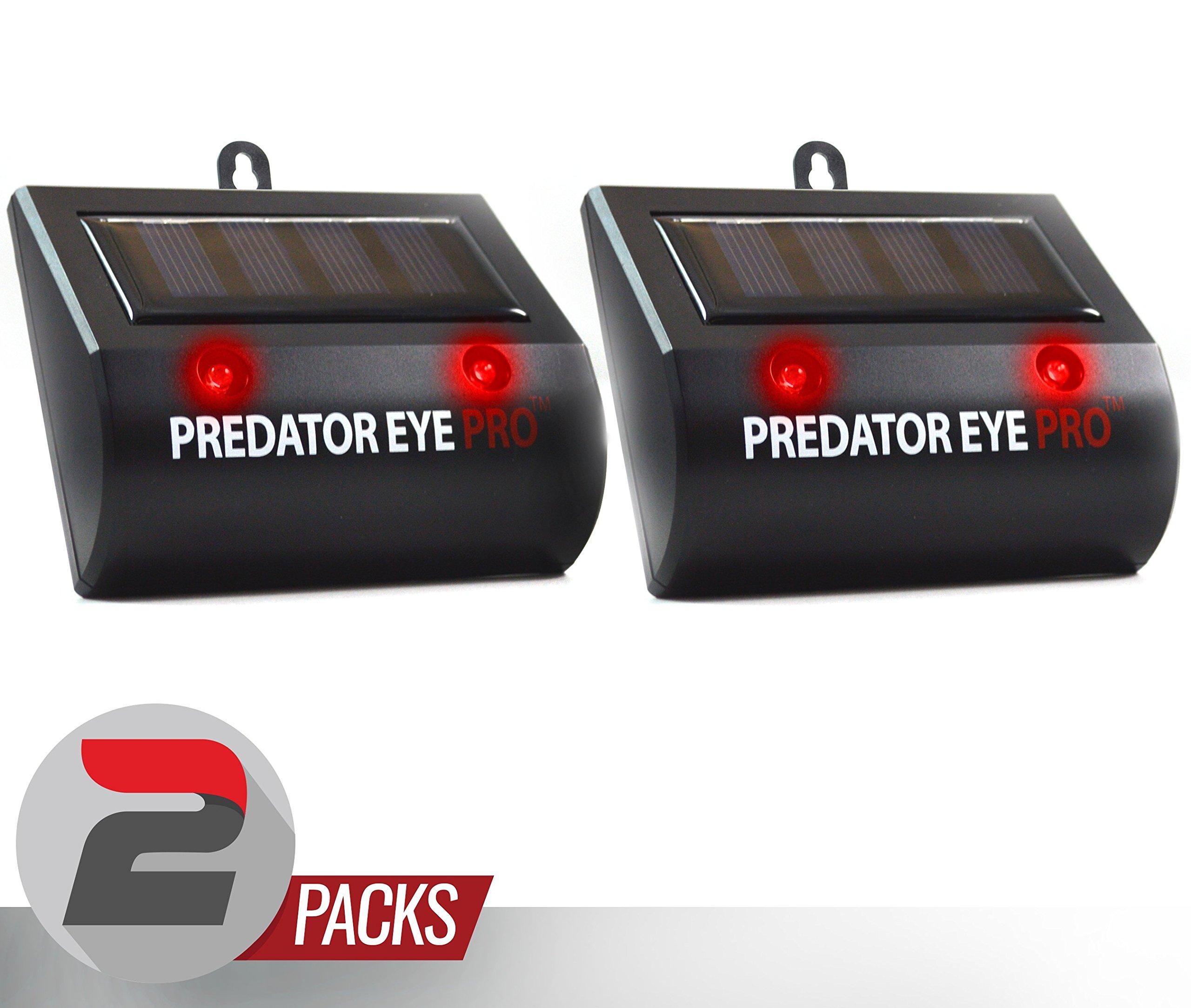 Aspectek Solar Powered Predator Eye Pro Night and Day Wild Animal Repeller 2 pack