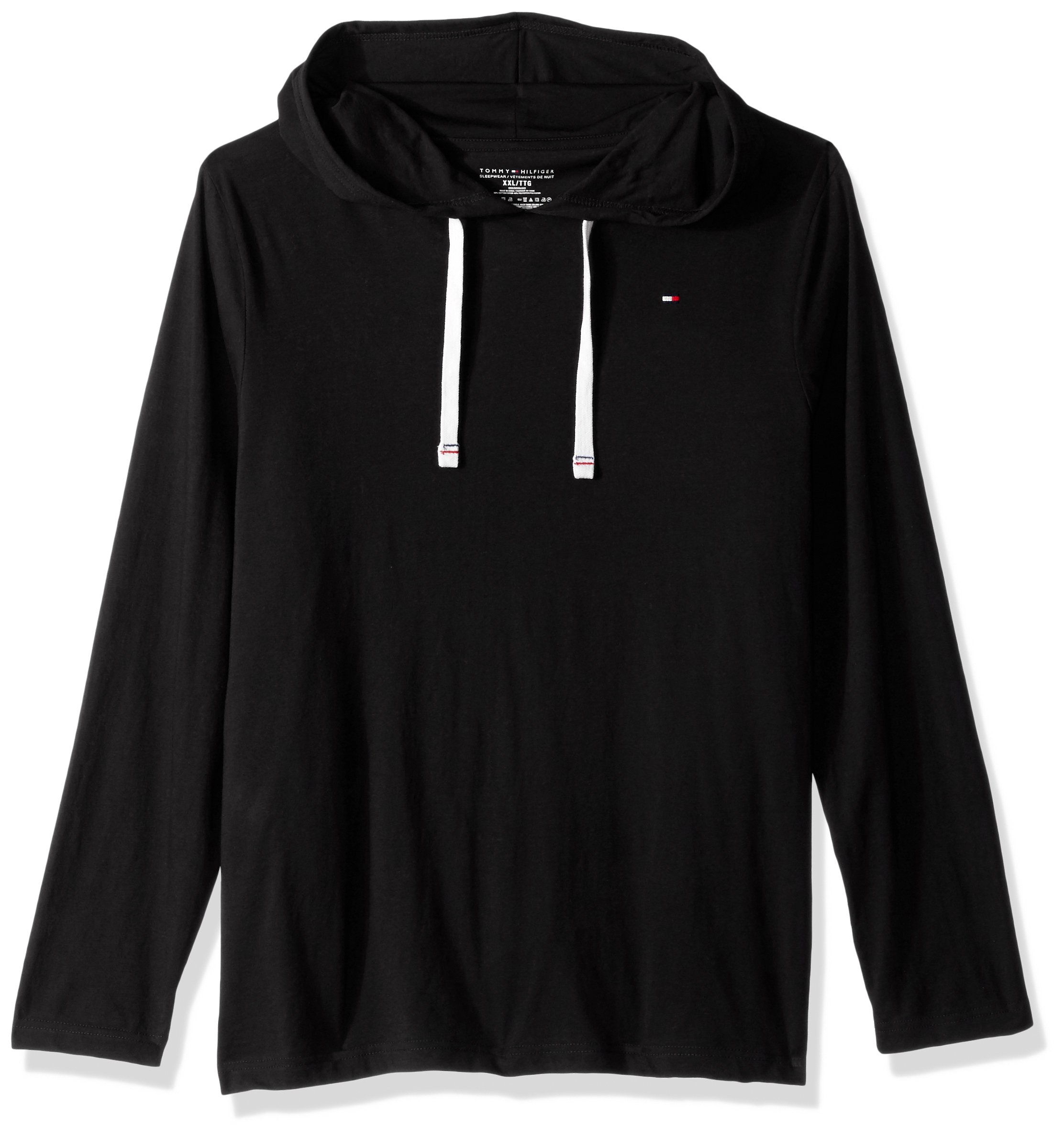 Tommy Hilfiger Men's Cotton Classics Pullover Hoodie, Black, Large