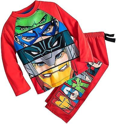 Disney Store Captain America Iron Man 2PC Long Sleeve Tight Fit Pajama Set Boy 5