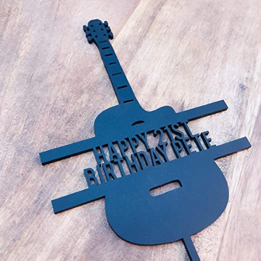 Decoración para tarta de guitarra, decoración para tarta ...