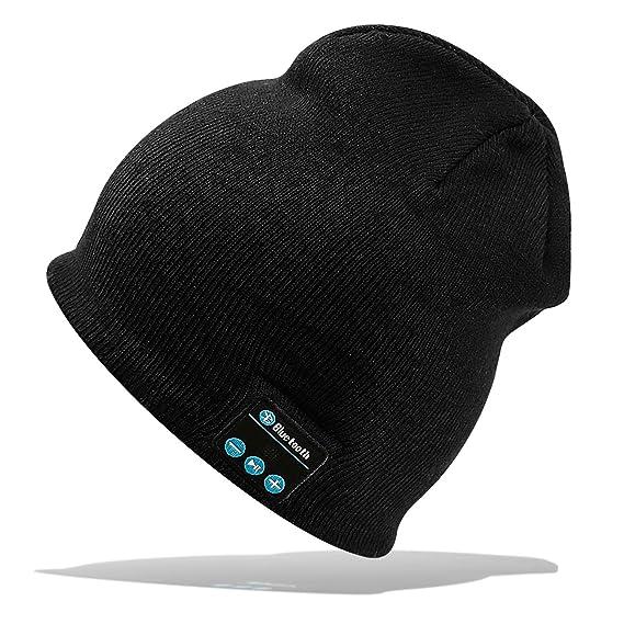 Gorra Bluetooth Hat Cap Auriculares Estéreo 4.2 Gorrita tejida Inalámbrica Conveniente para Deportes al aire libre Regalos de… sc8rf3O