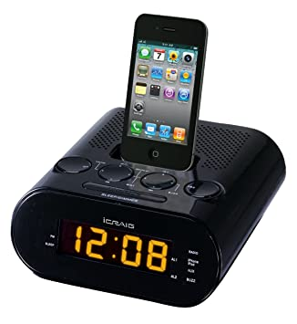 Amazon.com: Craig Alarma Dual Base para iPod/iPhone reloj ...