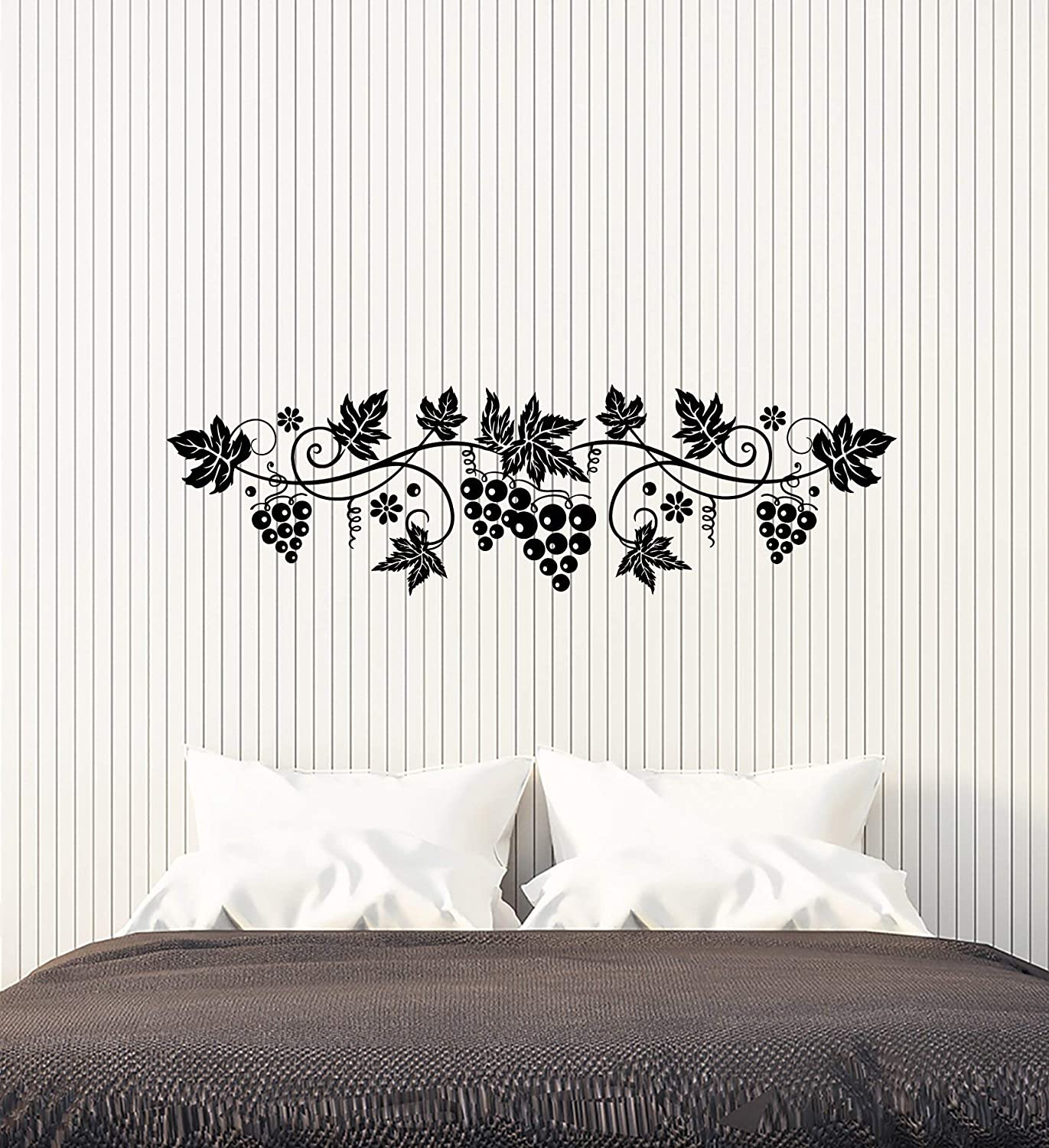 Vinyl Wall Decal Grapevine Kitchen Decor Grapes Wine Shop Stickers (3878ig)