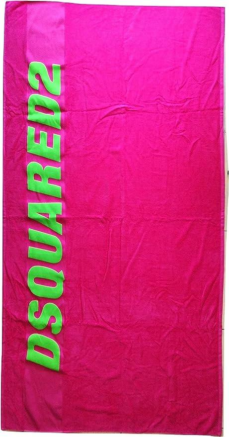 Dsquared - Toalla de playa de algodón D7P002430.430UN, color rosa y verde: Amazon.es: Hogar