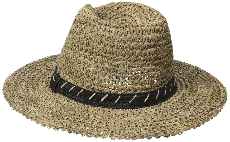 8c06265c668 San Diego Hat Co. Men s 3 inch Brim Crown Crochet Straw Sun Packable ...