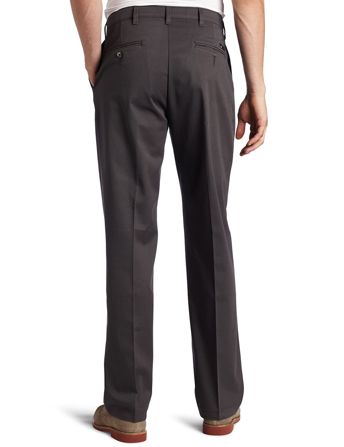 Lee Mens Comfort Waist Custom Relaxed Fit Flat Front Pant