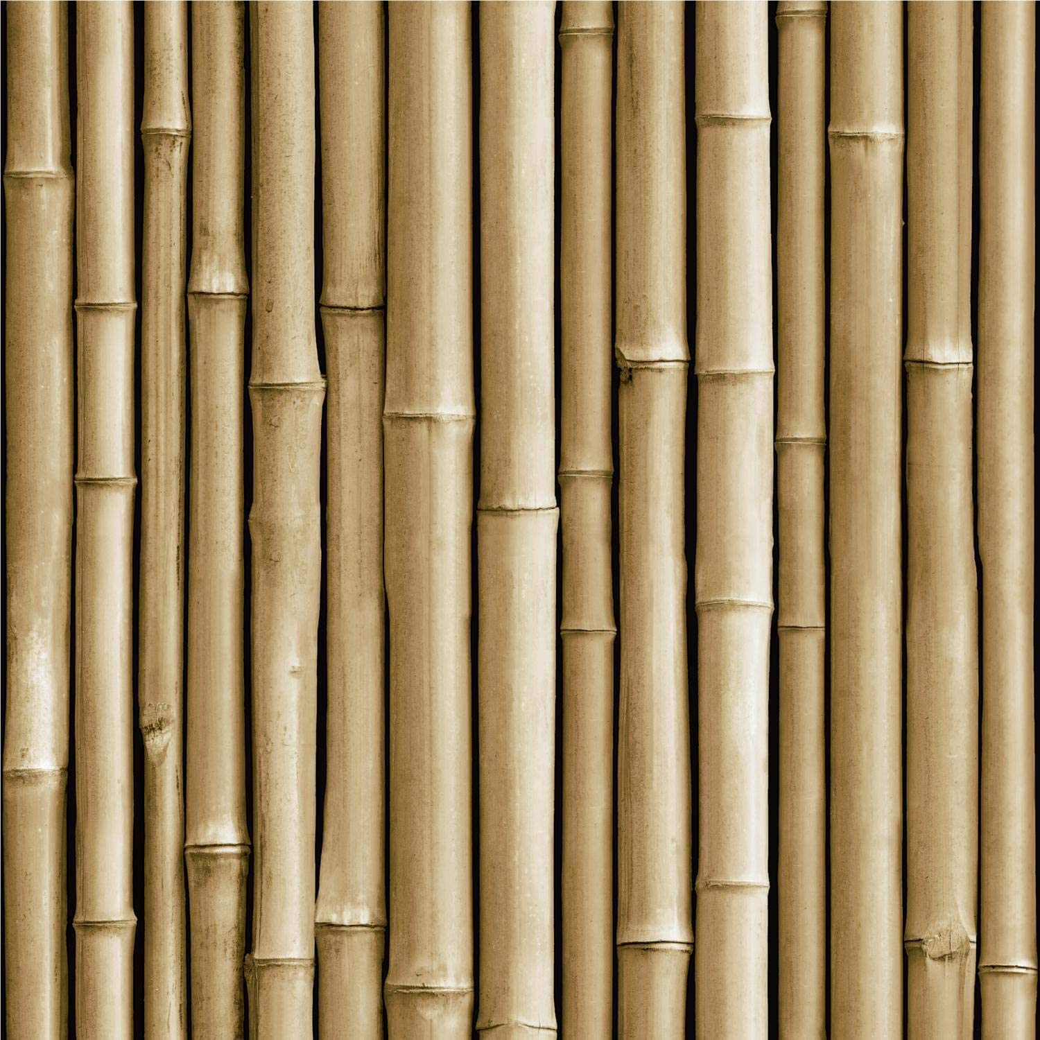 RoomMates Brown Bamboo Peel and Stick Wallpaper