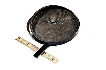 Gummileiste 25/mm breit x 4/mm dick x 5/m lang/ /massiv Neopren schwarz Gummi