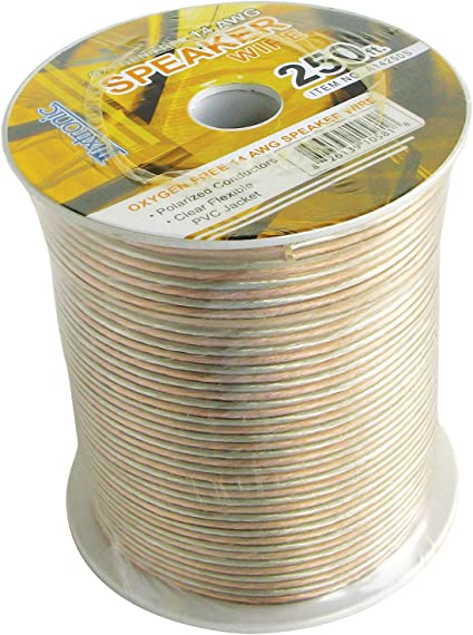 Luxtronic 18-Gauge Clear Speaker Wire 50-ft.