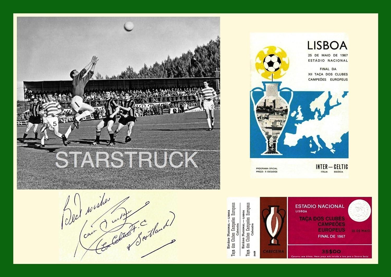 Celtic FC Legend Ronnie Simpson 1967 European Cup Final Signed Pre-Printed Exclusive A4 Print