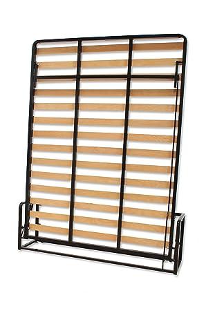 Cama De Matrimonio Abatible Vertical 150 x 200 cm (cama doble estilo Murphy Bed, cama plegable, sofá cama, mueble cama oculta).: Amazon.es: Hogar