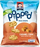 Quaker Popped Rice Crisp Snacks, Gluten Free, Caramel Corn, 7.04 Ounce Bag