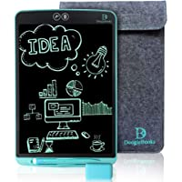"""DoogleBooks® 12-Inch Partial Erasure LCD Writing Board - Portable LCD Tablet - Electronic Writing Drawing Board with Dual Erase Functions, 2 Styluses, Sleeve, Rubber Tips – """"UK Safety Approved"""" (Blue)"""