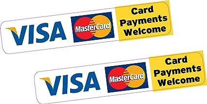 2 x los pagos de tarjeta tarjeta de crédito adhesivo Vinilo ...