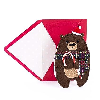 Amazon hallmark 0799xxh2032 signature christmas greeting card hallmark 0799xxh2032 signature christmas greeting card for kid or adult cute bear die cut with m4hsunfo