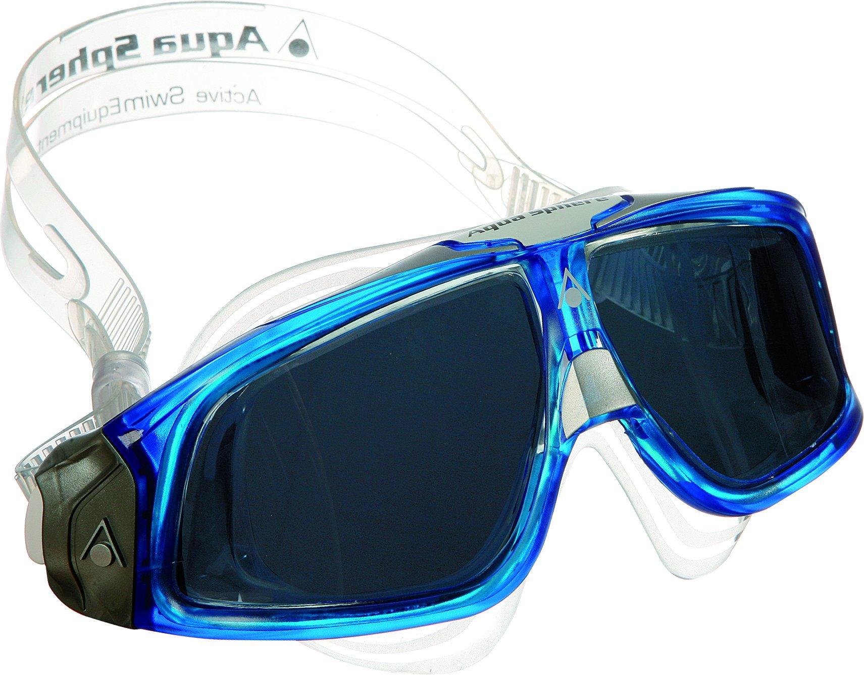 AQUA SPHERE Seal 2.0 Men's Mask, Tinted Lens/Deep Blue Frame