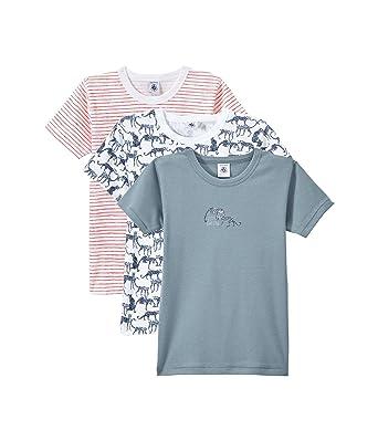 598e57cf7f0 Petit Bateau T- Shirt (Lot de 3) Garçon  Amazon.fr  Vêtements et ...