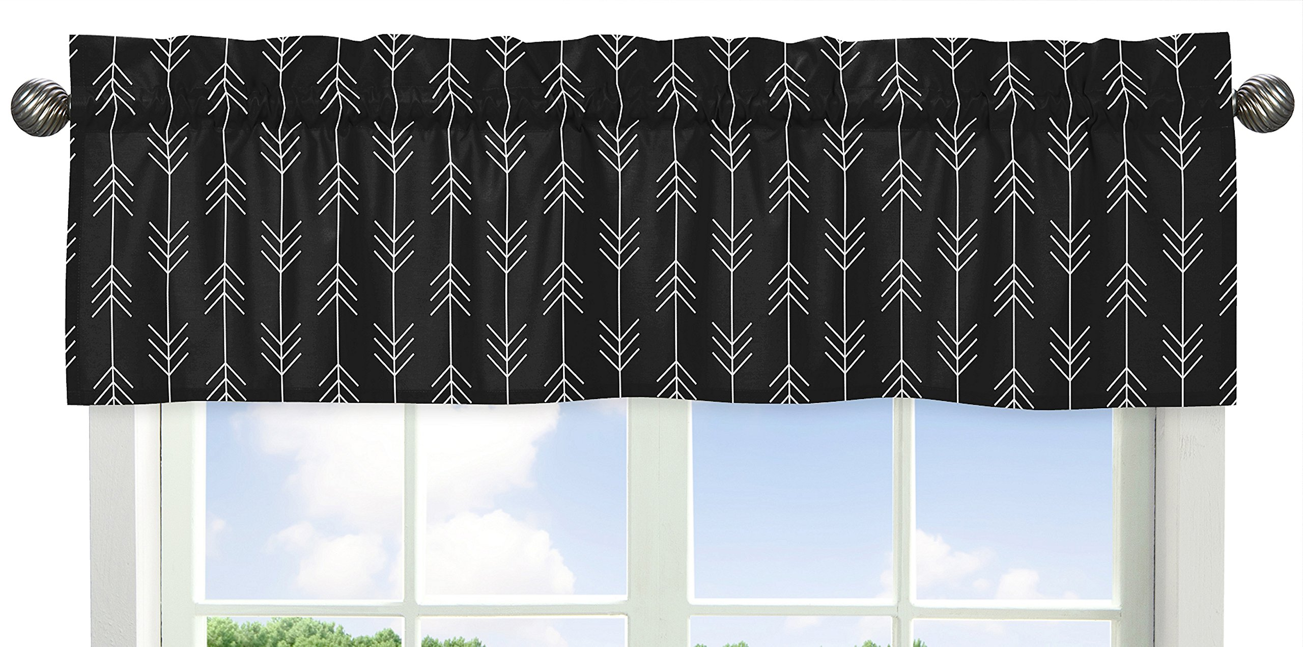 Sweet Jojo Designs Black and White Woodland Arrow Window Treatment Valance for Rustic Patch Collection by Sweet Jojo Designs