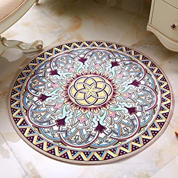 Xiaowu Runder Teppich Stilvolles Einfaches Wohnzimmer