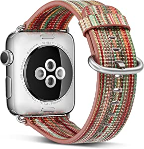 Compatible with Apple Watch Band 38mm 40mm iWatch Bands Womens for Series 6 5 4 3 2 1,Pierre Case Durable Genuine Leather Replacement Strap,Adjustable Stainless Metal Clasp