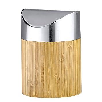axentia 251076 bonja poubelle en bambou pour salle de bains 2 l - Bambou Pour Salle De Bain