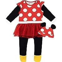 Disney Pijama Conjunto de Pijama Entera y Gorro para Niñas Bebés Minnie Mouse